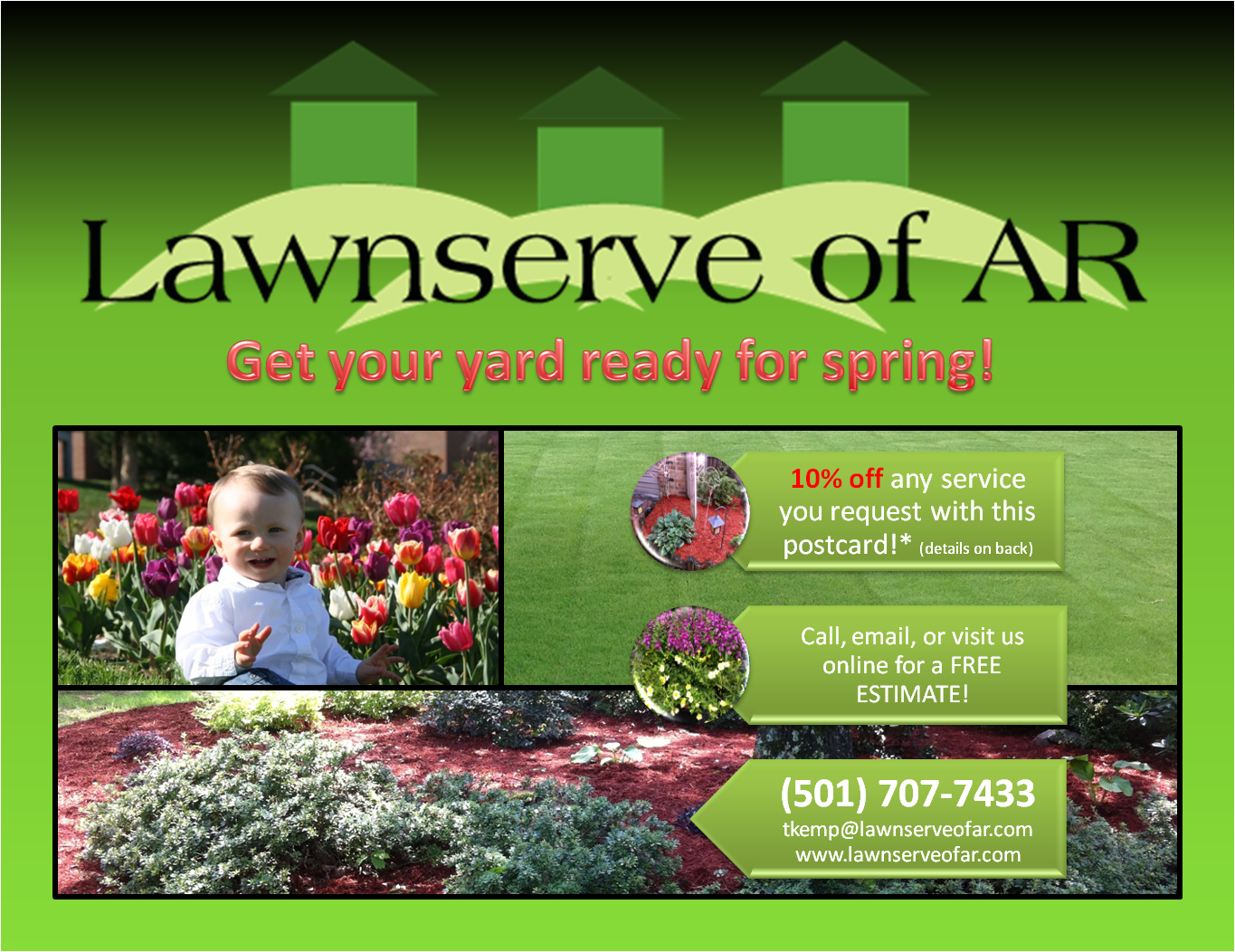Lawnserve of AR-Fertilization and Weed Control, Lawn and Landscape Services