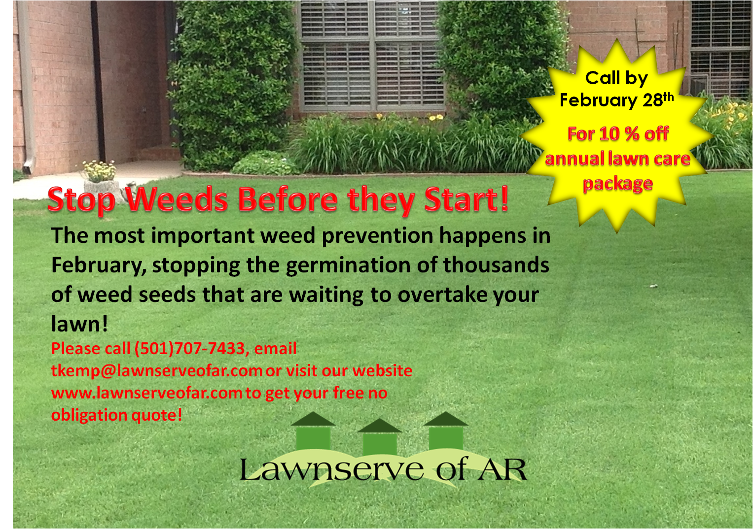 Fertilization and Weed Control Maumelle, Little Rock, North Little Rock, Conway, and central Arkansas